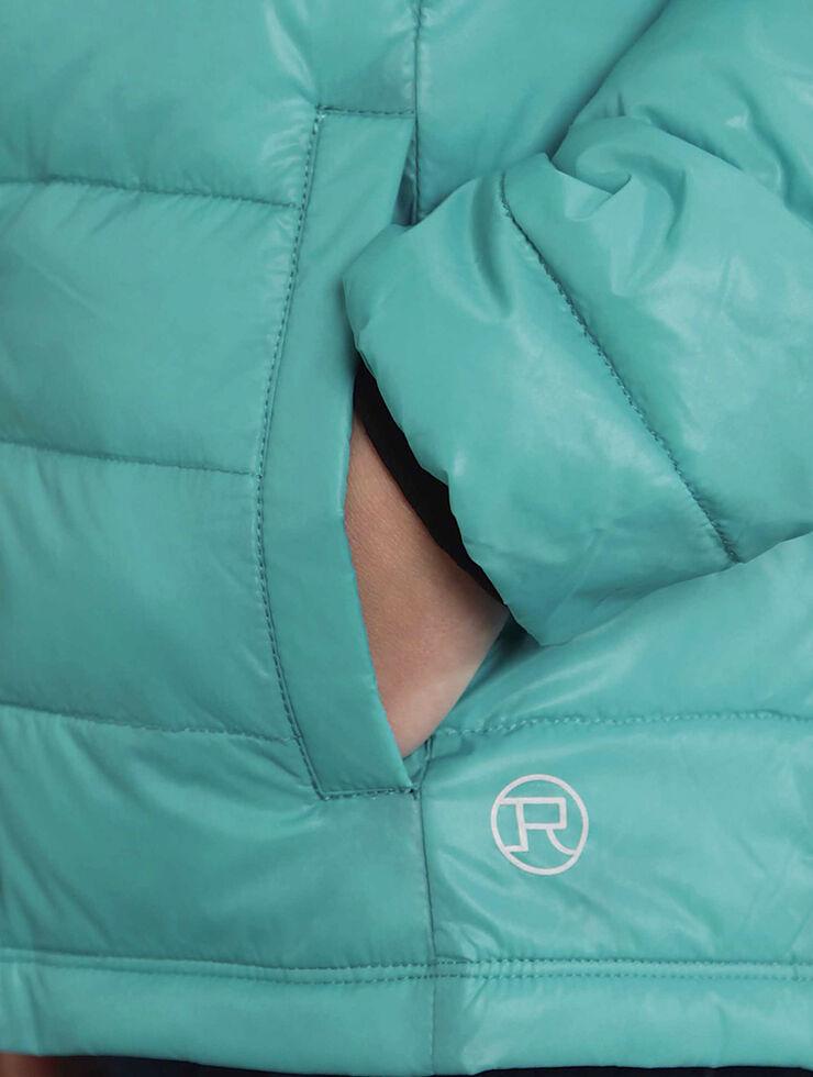 Roper Girls' RangeGear Crushable Hooded Jacket , Turquoise, hi-res