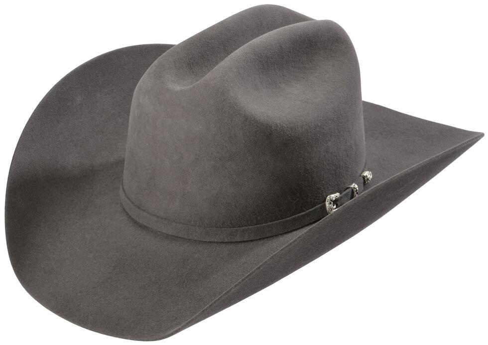 Justin 8X Fur Felt Mustang Cowboy Hat, Granite, hi-res