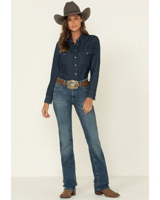 Wrangler Women's Willow Bessie Riding Bootcut Jeans , Blue, hi-res