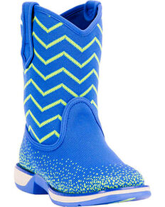 Laredo Girls' Blue Ziggy Lightweight Boots - Square Toe , Blue, hi-res