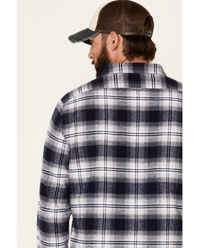 Flag & Anthem Men's Hanston Large Plaid Long Sleeve Western Flannel Shirt , Navy, hi-res