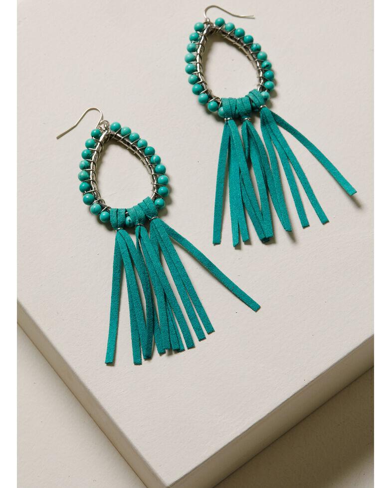 Idyllwind Women's Move Like Me Fringe Earrings, Turquoise, hi-res