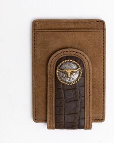 Cody James Men's Croc Embossed Money Clip Leather Wallet , Black, hi-res
