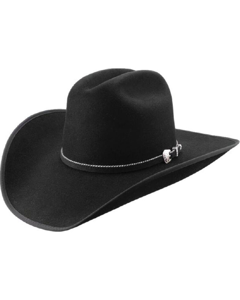 Master Hatters Men's Premium Black Windmill 7X Wool Felt Cowboy Hat, Black, hi-res