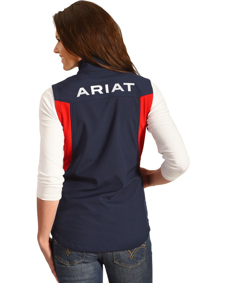 Ariat Women's Team Softshell Vest, Navy, hi-res
