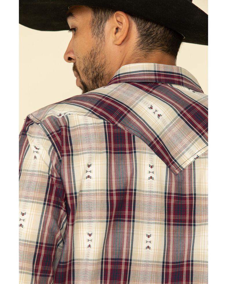 Cody James Men's Las Cruces Large Plaid Long Sleeve Western Shirt - Tall , Maroon, hi-res