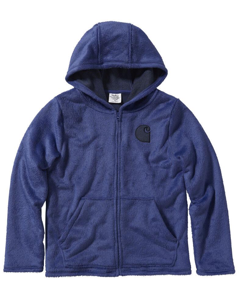 Carhartt Girls' Dark Grape Fleece Sherpa Lined Jacket, Purple, hi-res