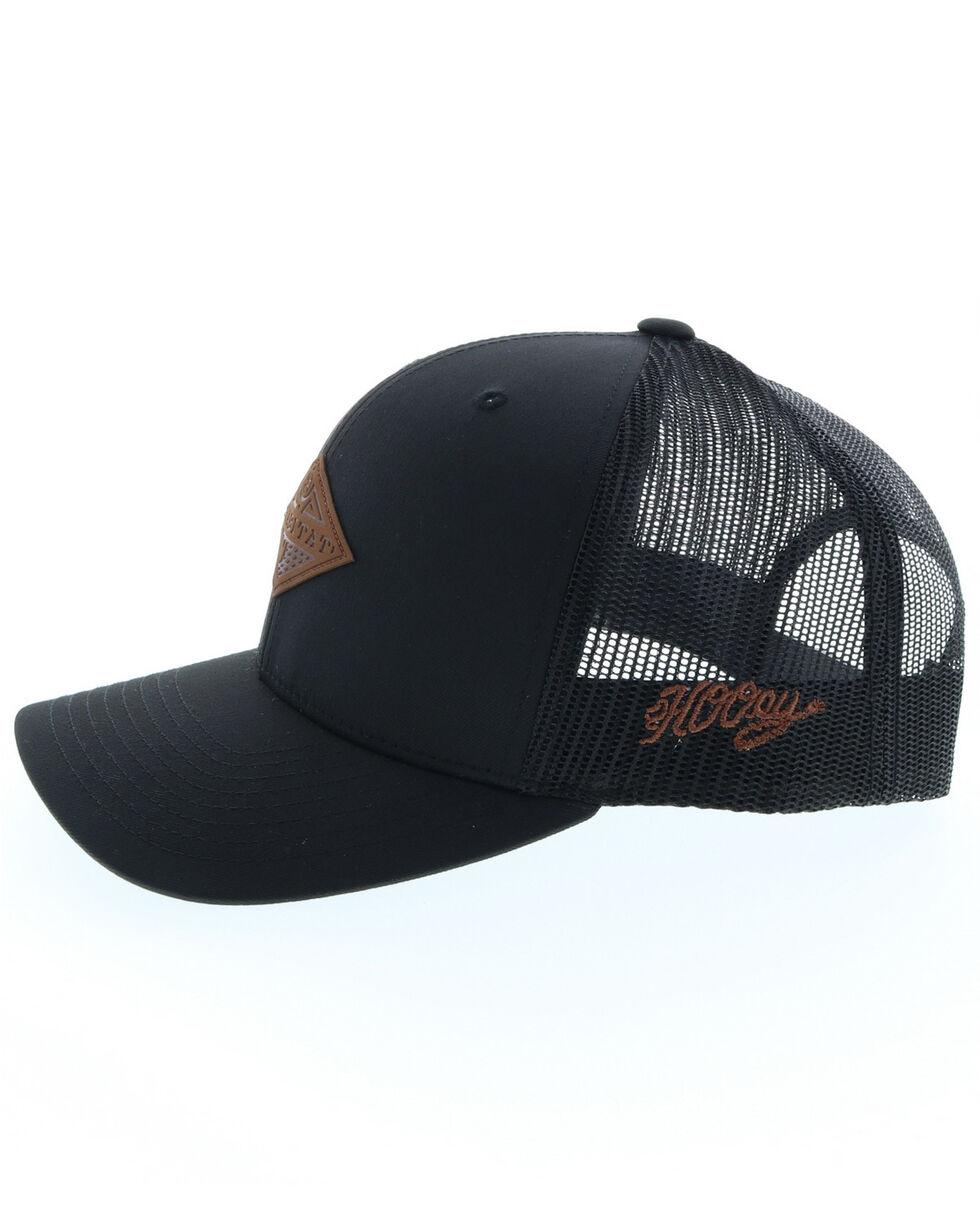 HOOey Men's Graphite Habitat Leather Patch Ball Cap , Black, hi-res