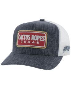 HOOey Men's Navy Cactus Ropes Patch Mesh Ball Cap, Navy, hi-res