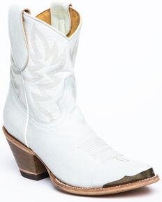 Idyllwind Women's White Wheels Western Booties - Round Toe, White, hi-res