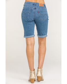 Levi's Women's Light Wash Bermuda Shorts, Blue, hi-res
