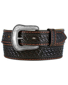 Justin Men's Brown Beaumont Western Belt, Brown, hi-res