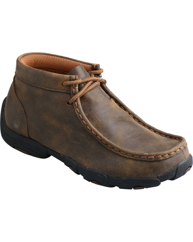 Twisted X Youth Driving Moc, Brown, hi-res