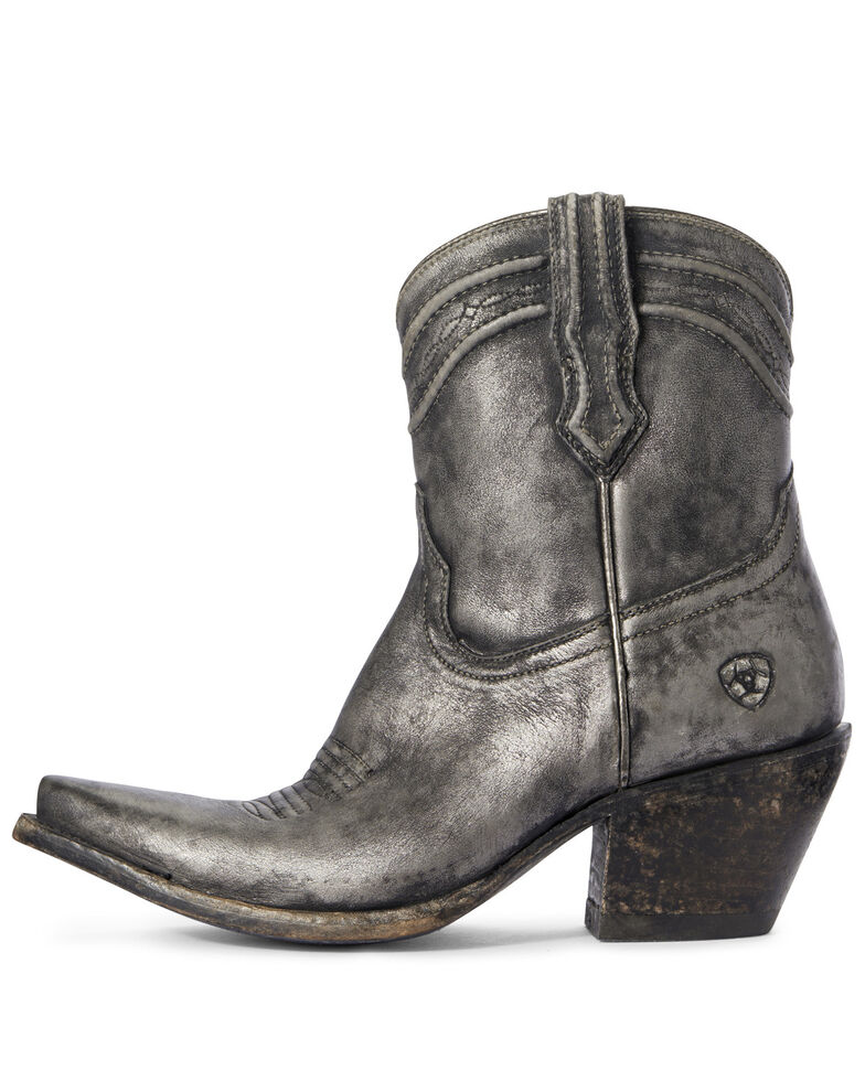 Ariat Women's Legacy Silver Fashion Booties - Snip Toe, Grey, hi-res