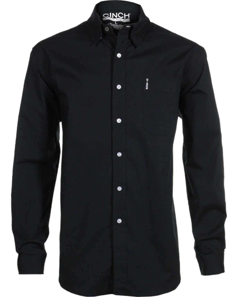 Cinch Men S Black Modern Fit Long Sleeve Western Shirt Country