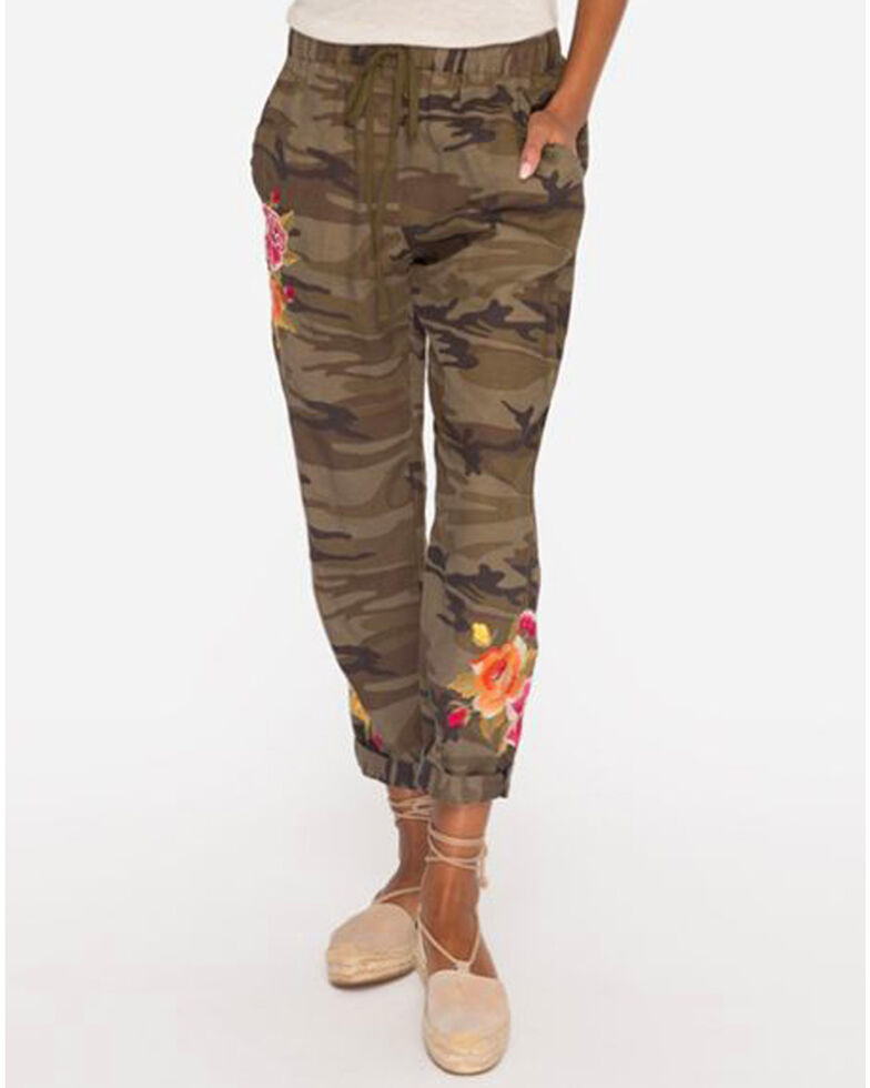 78b8e6c507dbc Zoomed Image Johnny Was Women's Camo Vella Jogger Pants , Camouflage, hi-res