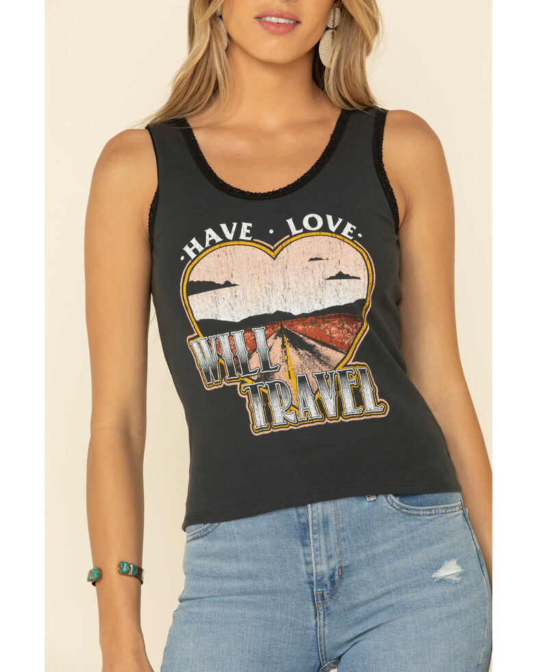 Bandit Women's Have Love Will Travel Tank Top, Black, hi-res