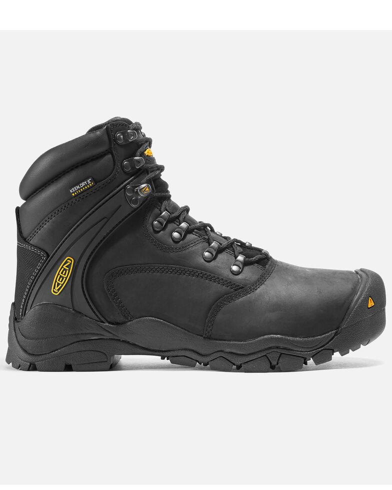 """Keen Men's Louisville 6"""" Work Boots - Steel Toe, Black, hi-res"""