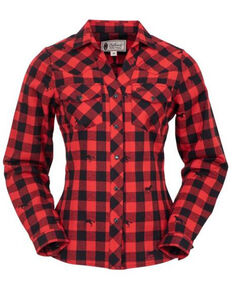 Outback Trading Co. Women's Samantha Performance Shirt, Red, hi-res