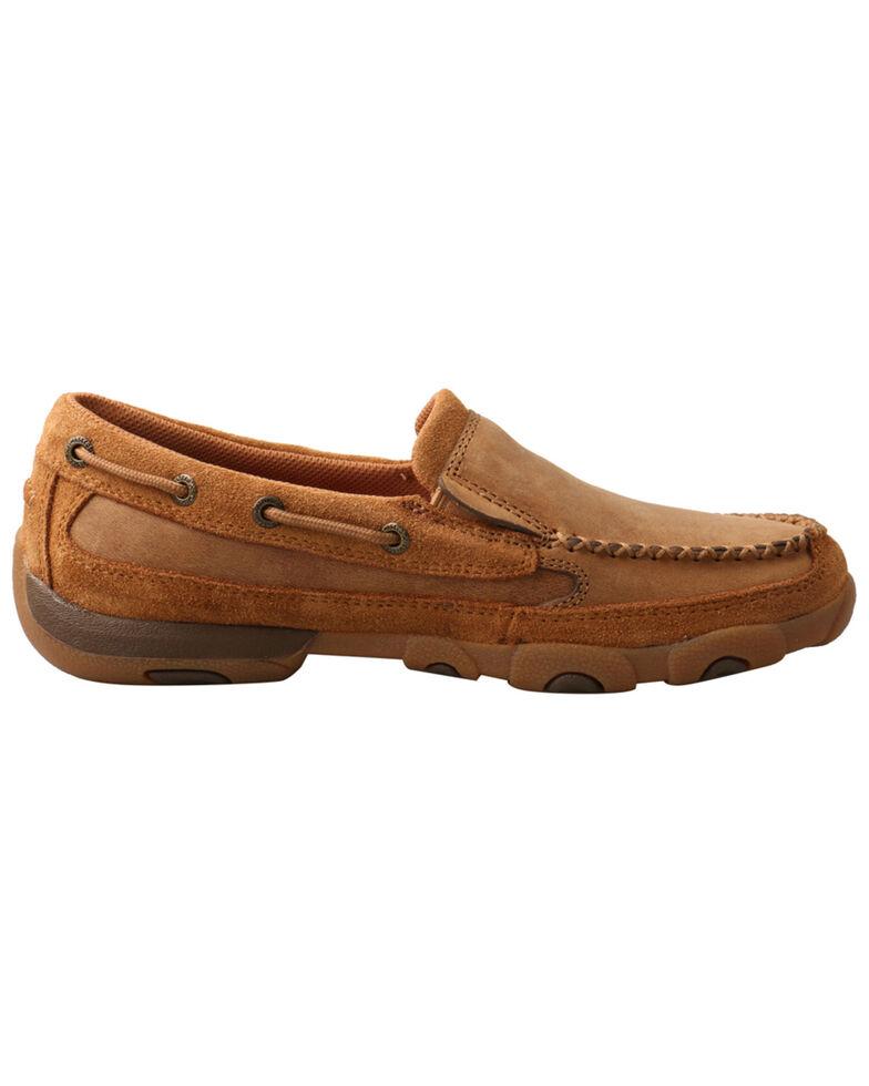 Twisted X Women's Tan Driving Shoes - Moc Toe, Tan, hi-res