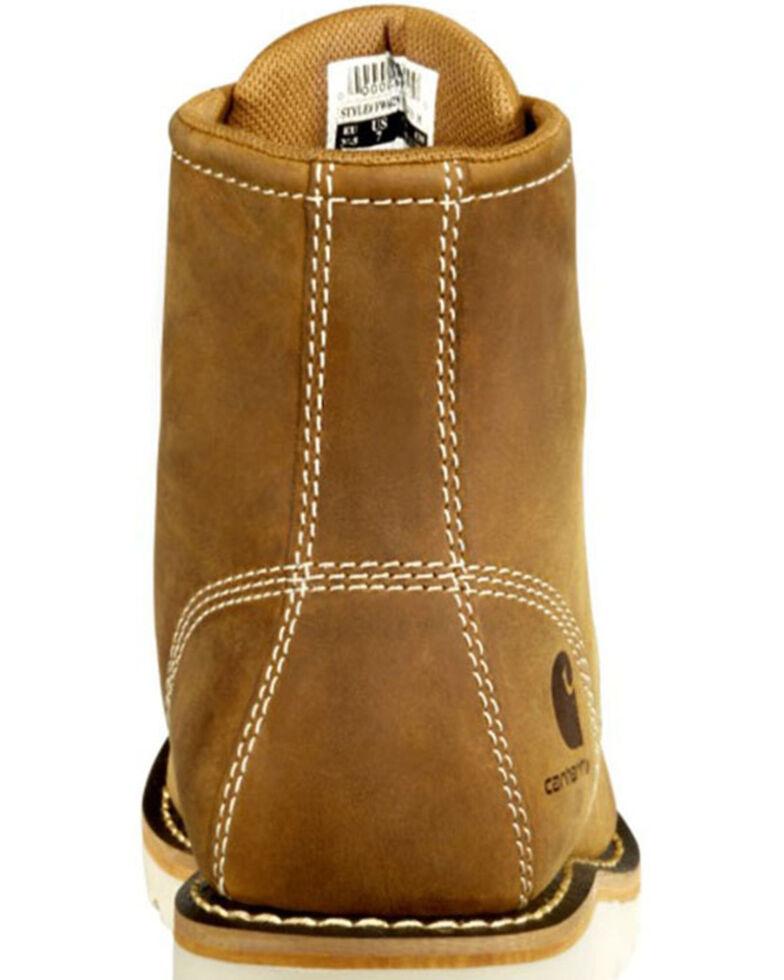 Carhartt Women's Brown Flat Sole Waterproof Work Boots - Steel Toe, Dark Brown, hi-res