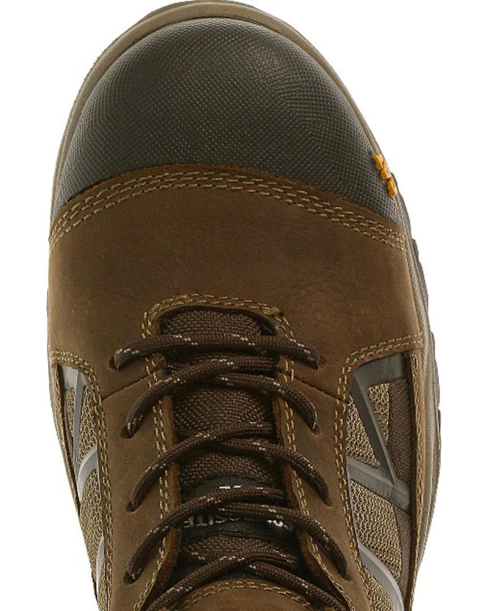"""Caterpillar Men's Compressor Clay 6"""" Waterproof Work Boots - Composite Toe , Brown, hi-res"""