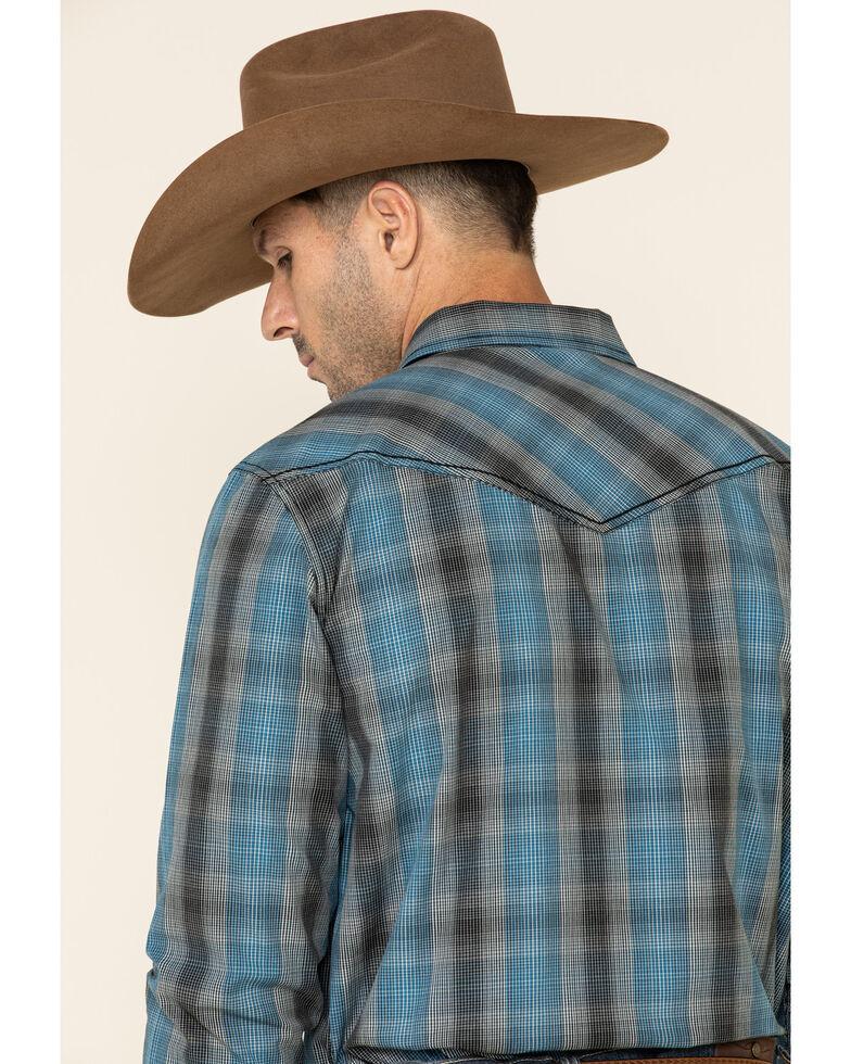 Cody James Men's Morning Fog Plaid Long Sleeve Western Shirt , Blue, hi-res
