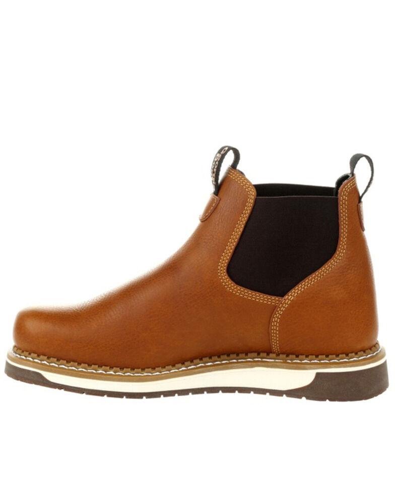 Georgia Boot Men's AMP LT Wedge Chelsea Work Boots - Soft Toe, Brown, hi-res