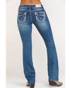 Grace in LA Women's Panel Pocket Bootcut Jeans, Blue, hi-res