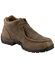 Roper Men's Vintage Nubuck Rugged Sole Shoes, Brown, hi-res