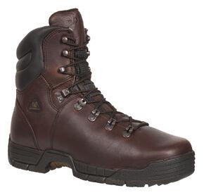 Rocky Men's MobiLite Waterproof Oil-Resistant Work Boots - Steel Toe, Copper, hi-res
