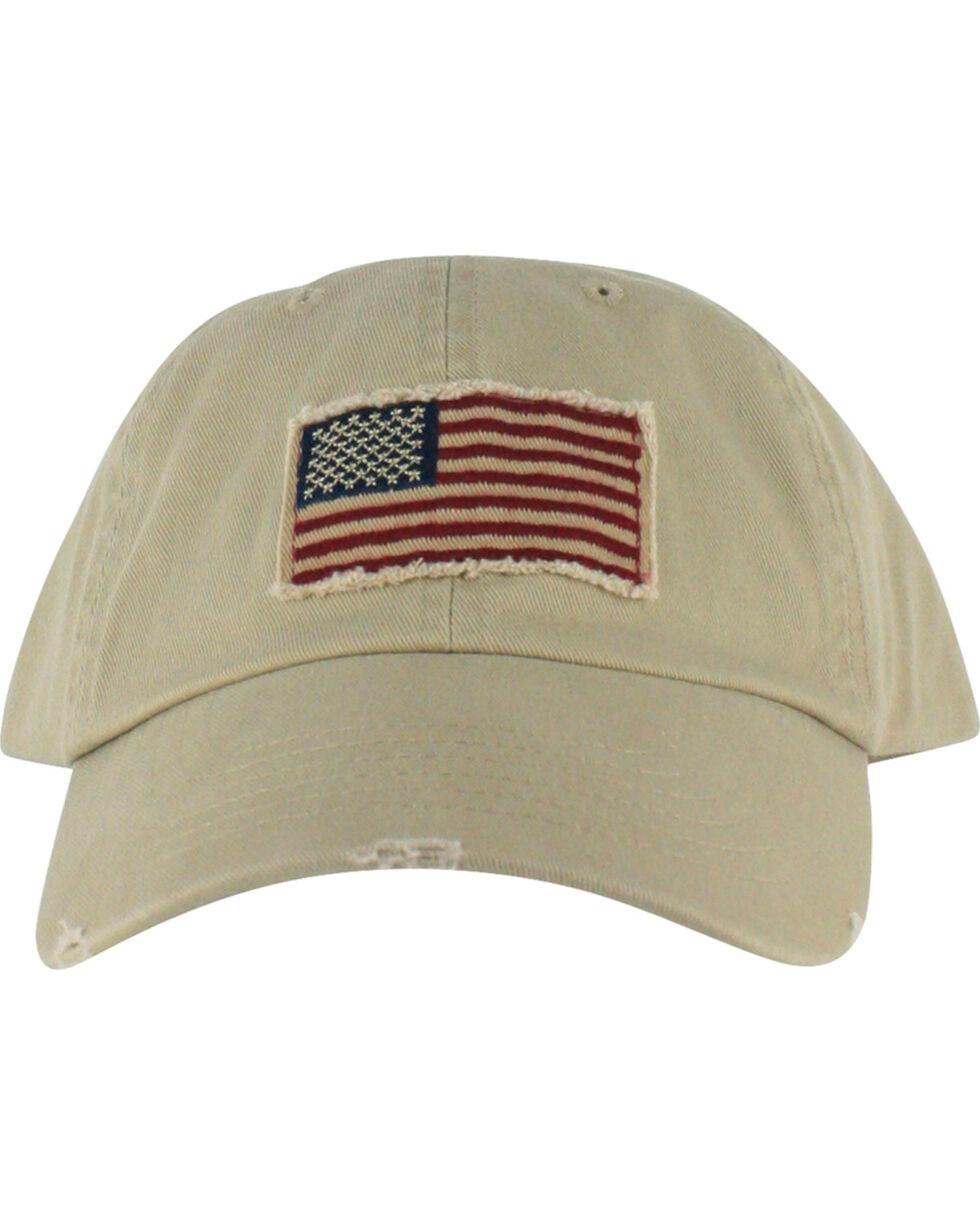 Dorfman Pacific Cotton Stars and Stripes Baseball Cap , Multi, hi-res