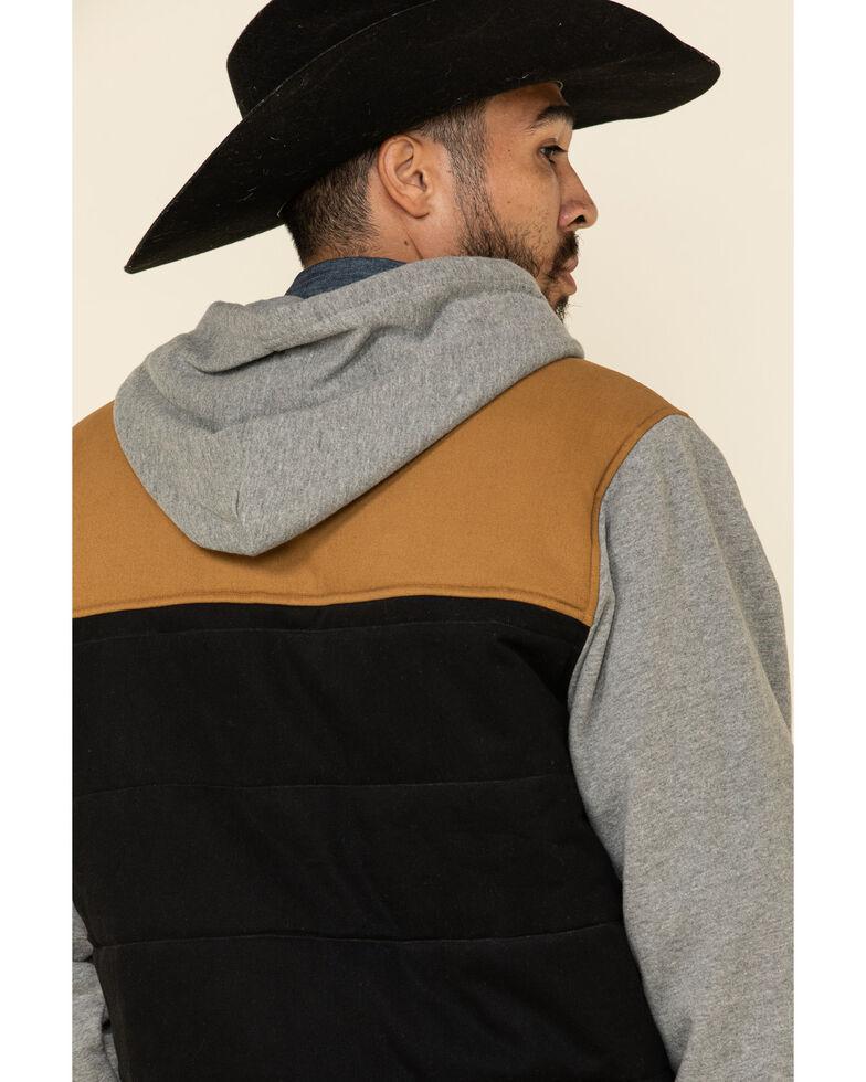 Cinch Men's Multi Color Blocked Twill Canvas Hooded Jacket , Multi, hi-res