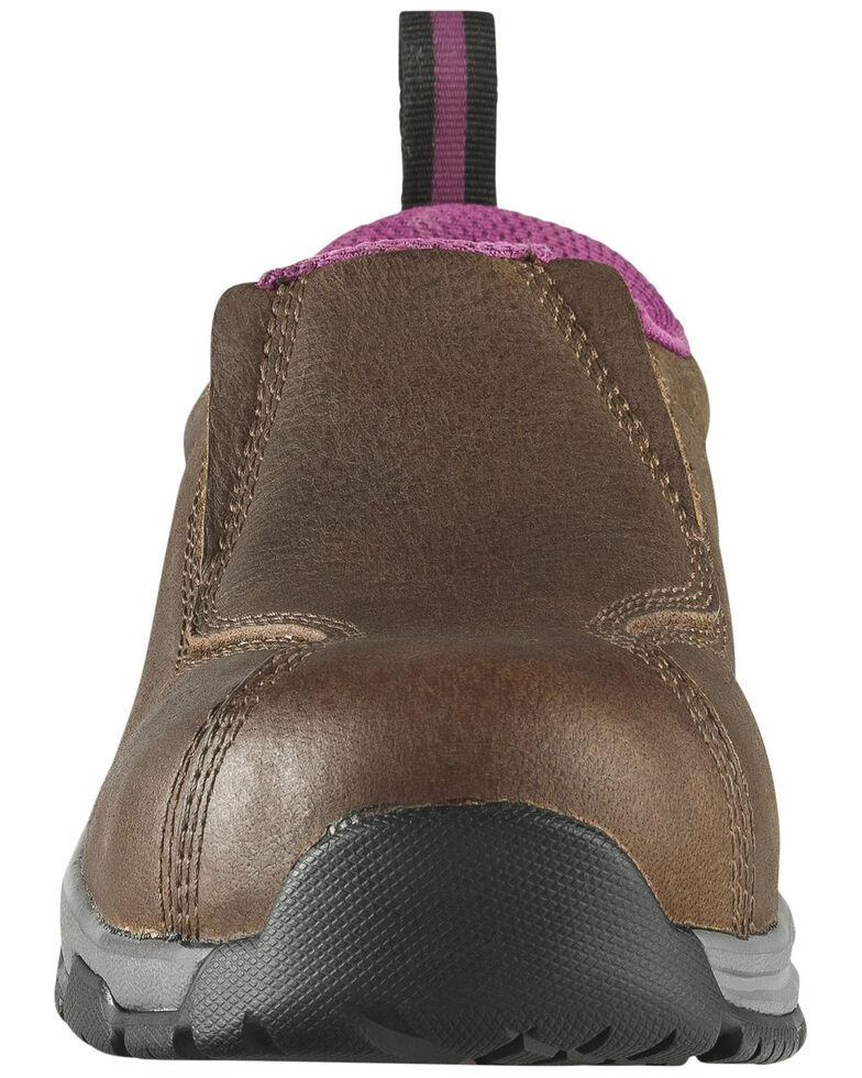 Nautilus Women's Slip-On Work Shoes - Composite Toe, Brown, hi-res