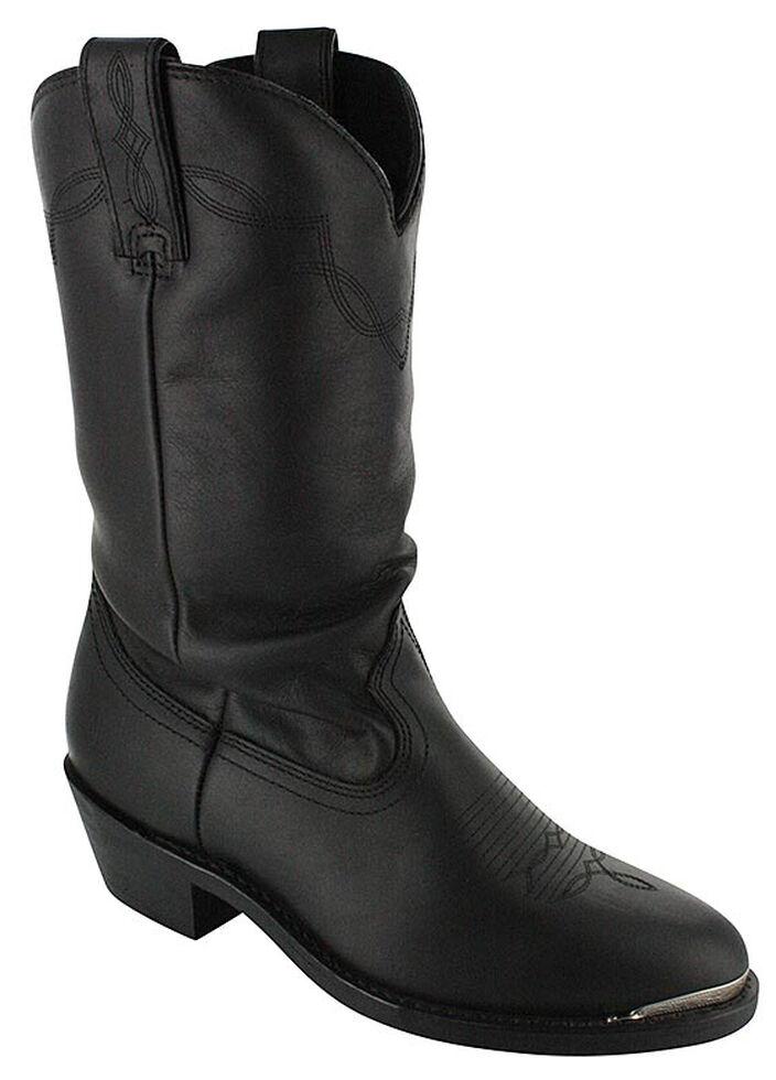 Shyanne Women's Black Slouch Cowgirl Boots - Medium Toe, Black, hi-res