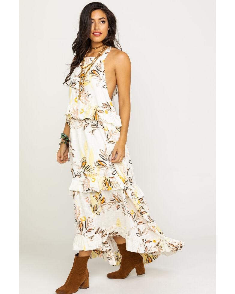 Free People Women's Anita Printed Maxi Dress, Ivory, hi-res