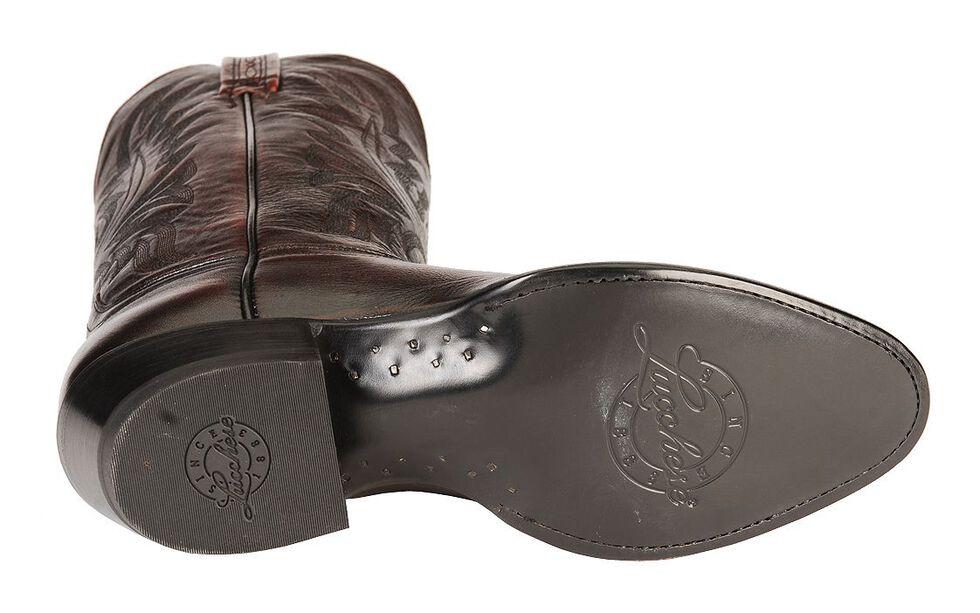 Lucchese Handmade Lonestar Calf Cowboy Boots - Medium Toe, Black Cherry, hi-res