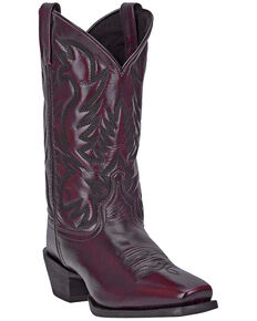 Laredo Men's Lawton Western Boots - Square Toe, Black Cherry, hi-res