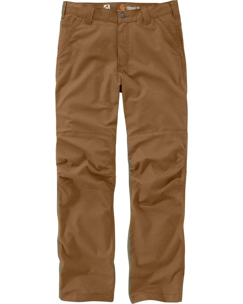 Carhartt Men's Full Swing Cryder Dungarees 2.0 Straight Work Pants , Pecan, hi-res