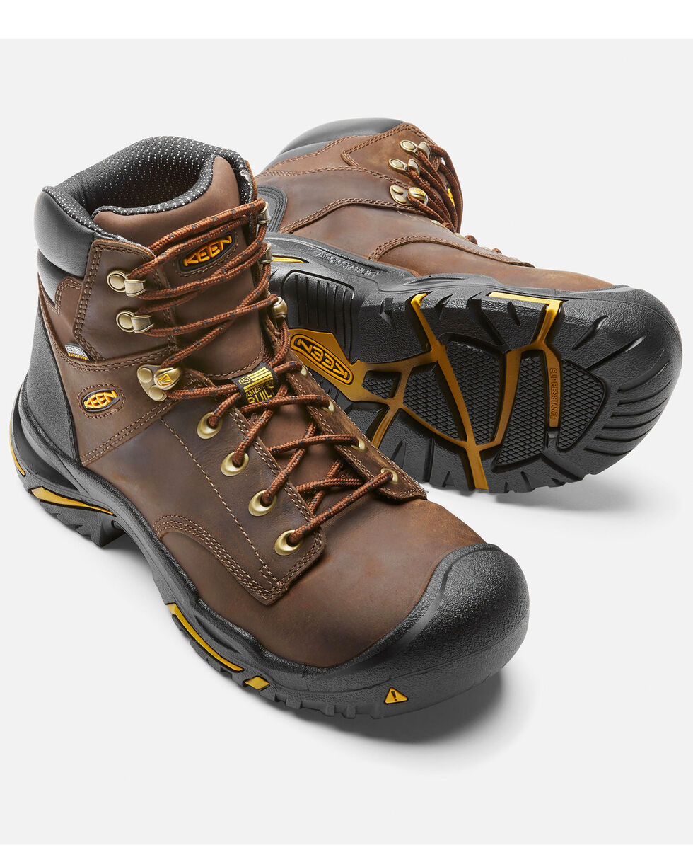 Keen Men's Mt. Vernon Waterproof Work Boots - Steel Toe, Brown, hi-res