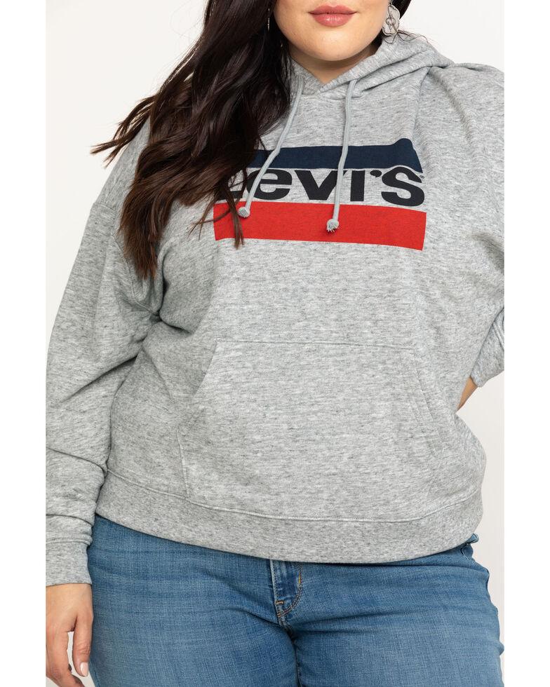 Levi's Women's Smokestack Sportswear Logo Sweatshirt - Plus, Grey, hi-res