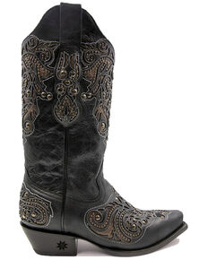 Black Star Women's Salado Western Boots - Snip Toe, Black, hi-res