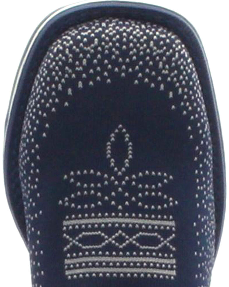 Laredo Women's Frolic Blue Woven Performair Stockman Boots - Square Toe, Blue, hi-res