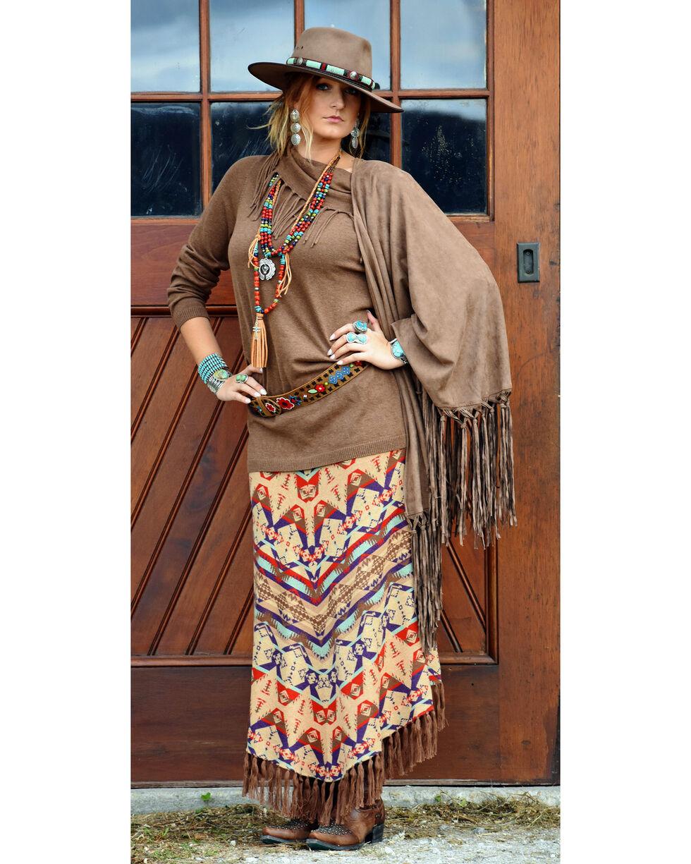 Tasha Polizzi Women's Brown Thoroughbred Tunic , Brown, hi-res