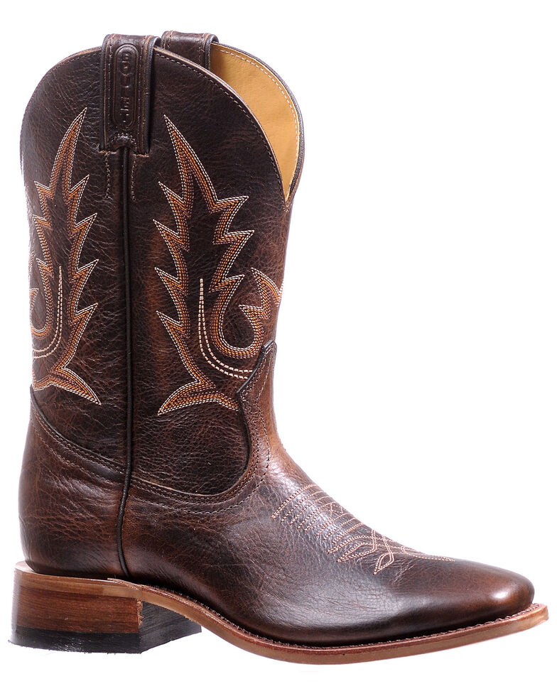 Boulet Women's Challenger Western Boots - Square Toe, Dark Brown, hi-res