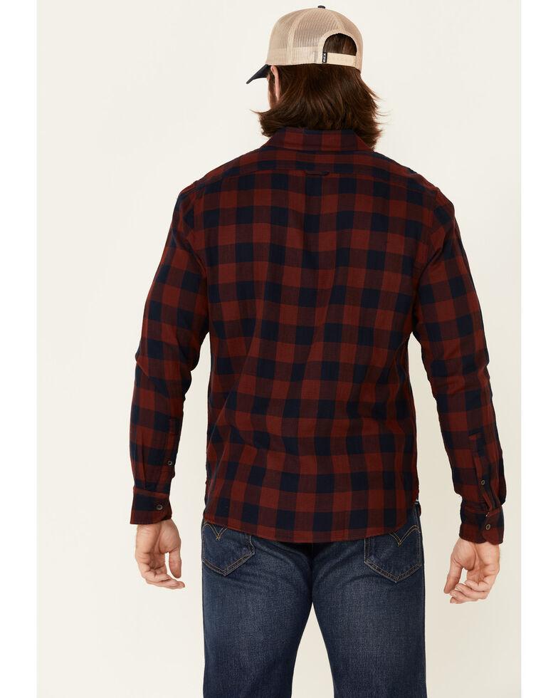 Flag & Anthem Men's Maroon Belhaven Plaid Long Sleeve Button-Down Western Shirt , Maroon, hi-res