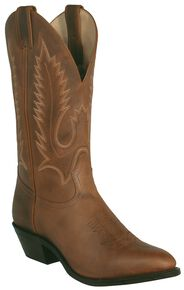 Boulet Men's Rider Cowboy Boots - Pointed Toe, Golden Tan, hi-res