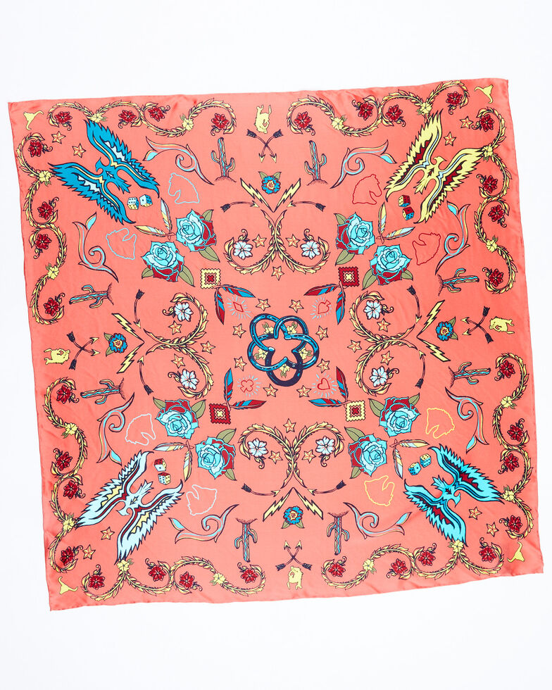 Idyllwind Women's In The Mix Wildrag Scarf, Coral, hi-res