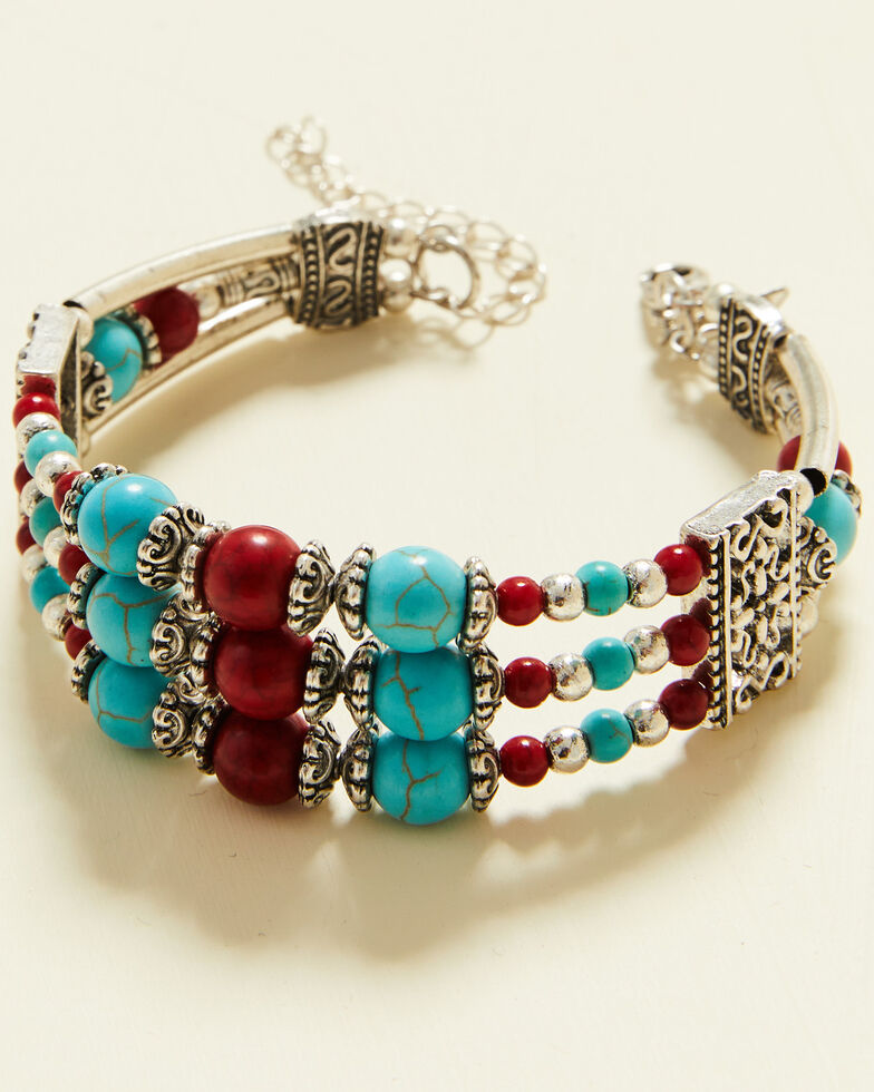 Shyanne Women's Summer Nights Beaded Bracelet, Silver, hi-res