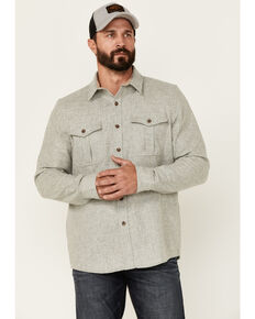 Pendleton Men's Natural Scout Long Sleeve Button-Down Western Shirt , Natural, hi-res